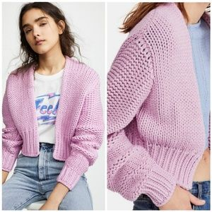 New Free People Glow For It Cardigan Pink Small